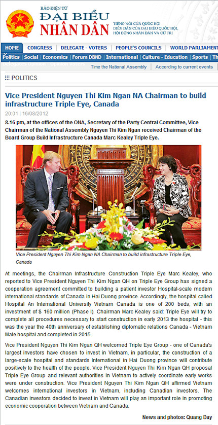 Vietnam agreement (translated)